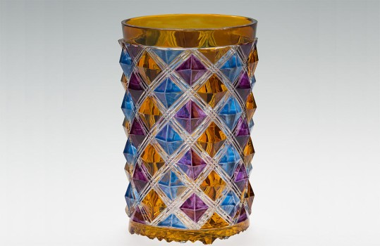 Beaker with Glaze on Pyramidal Stones