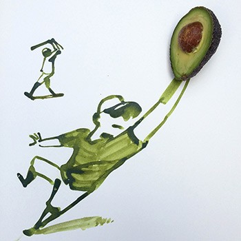 Christoph Niemann, Sunday Sketches <i>Avocado</i>