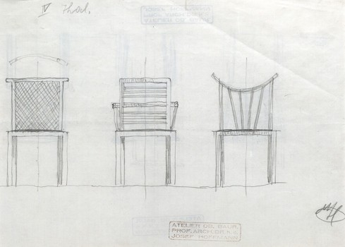 Josef Hoffmann, Designs for three chairs