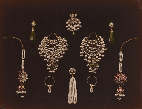 Photograph of indian earrings