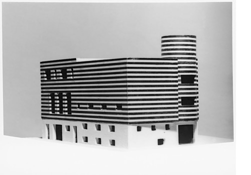 ADOLF LOOS: Private HousesAdolf Loos, Josephine Baker's house, Paris XVI, Avenue Bugeaud, France (project for converting and connecting two existing houses), 1927Model© ALBERTINA, Vienna