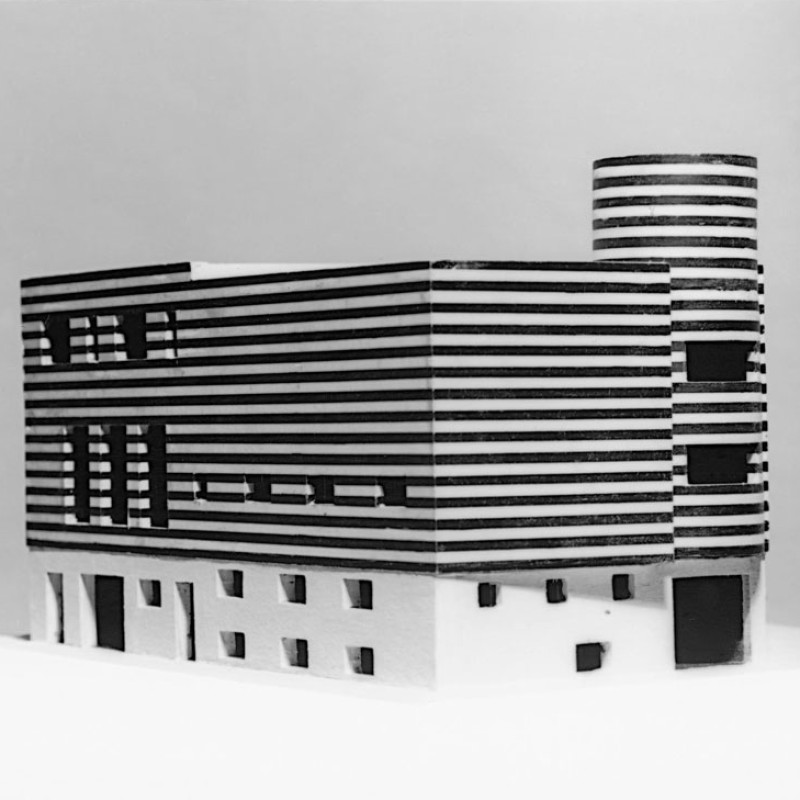 Adolf Loos, Josephine Baker's house, Paris XVI, Avenue Bugeaud, France (project for converting and connecting two existing houses), 1927 Model © ALBERTINA, Vienna