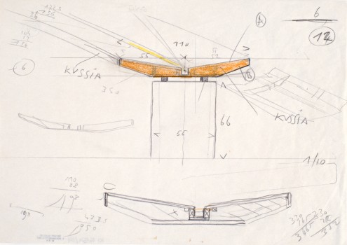 Carlo Scarpa: Design for a Bench for the FONDAZIONE QUERINI-STAMPALIA