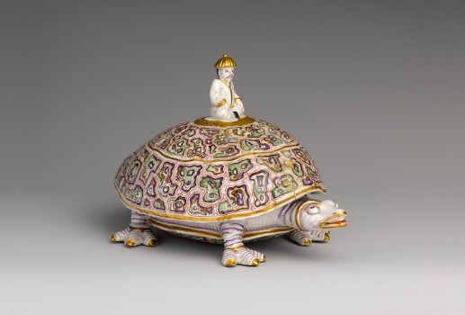 Covered Dish in the Form of a Turtle