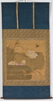LOTUS AND KINGFISHER (Scroll)