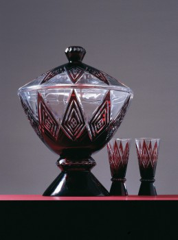 PIECES FROM A PUNCH BOWL SET