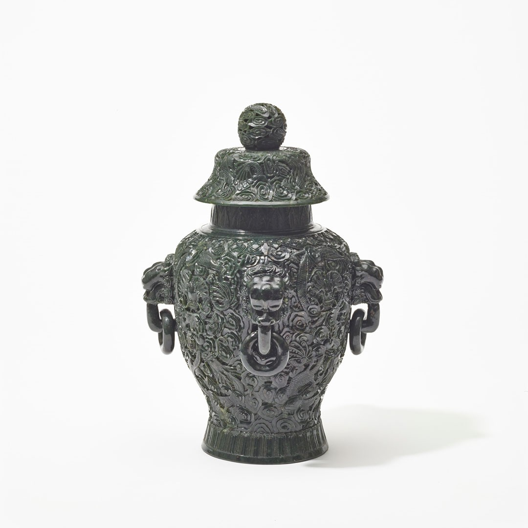 <BODY>Covered vase, China, Qing dynasty, Qianlong period (1736–1795)<br />Carved nephrite, Qianlong period base mark<br />© MAK/Georg Mayer<br /><br /></BODY>