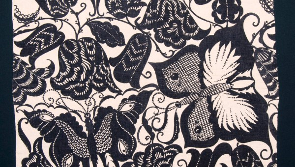 "DAGOBERT PECHE: ""SWALLOW-TAIL"" DECORATIVE FABRIC"