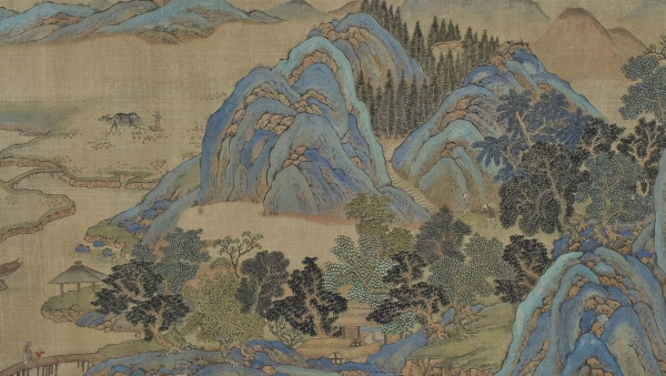 Fan K'uan Chung Li, Flusslandschaft mit Bergen [River Landscape with Mountains] Kangxi period (1662–1722) Picture scroll Exner Collection © MAK/Georg Mayer