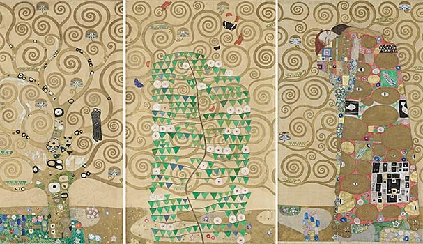 Gustav Klimt, cartoons for the mosaic frieze of the Stoclet house dining room