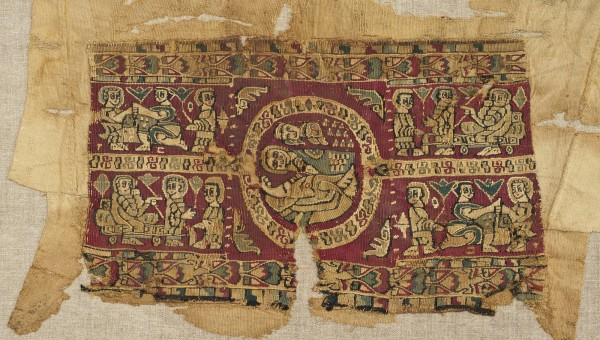 SLEEVE FRAGMENT WITH MOTIFS FROM THE BIBLICAL STORY OF JOSEPH