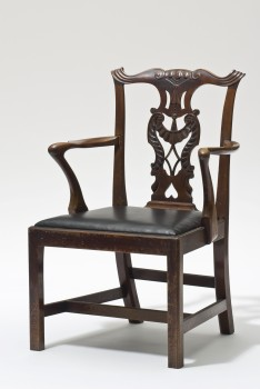 John Sollie Henry, CHIPPENDALE-STYLE ARMCHAIR