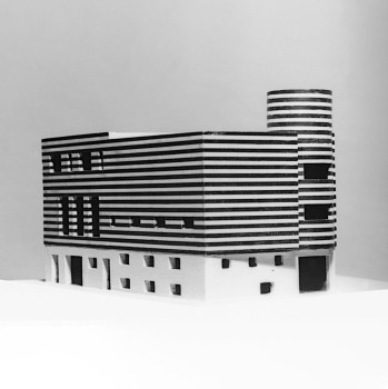 Adolf Loos, House for Josephine Baker, Paris XVI, Avenue Bugeaud, France (project to convert and connect two existing houses), 1927Model© ALBERTINA, Vienna