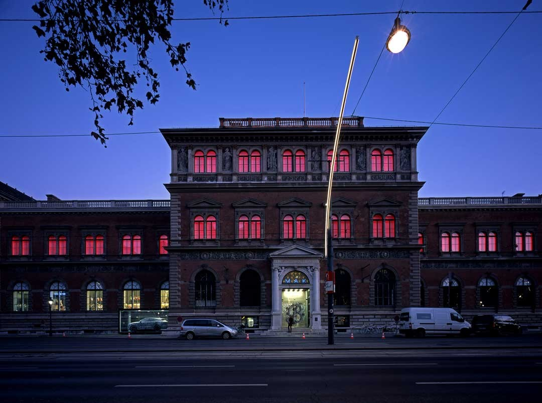 <BODY>James Turrell, <em>MAKlite</em>, 2004<br />Technical Adaption: 2018<br />Permanent light installation on the MAK façade<br />© Gerald Zugmann/MAK</BODY>