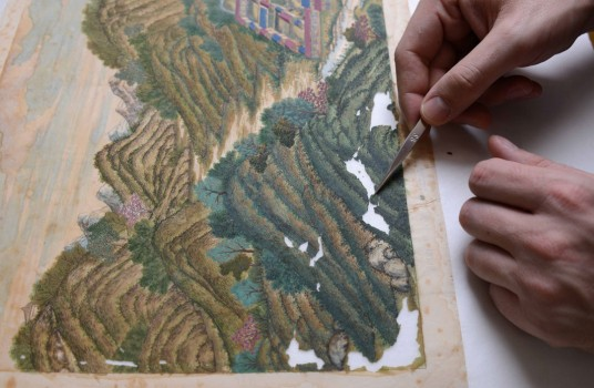 Restoration of Copper Engravings from China © MAK