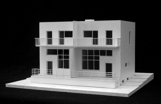 Adolf Loos and Heinrich Kulka, Duplex in the Werkbundsiedlung, Vienna's 13th district, Woinovichgasse 13, 15, 17, 19, 1930–1932 Model: Prof. Hans Puchhammer, TU Wien© ALBERTINA, Vienna